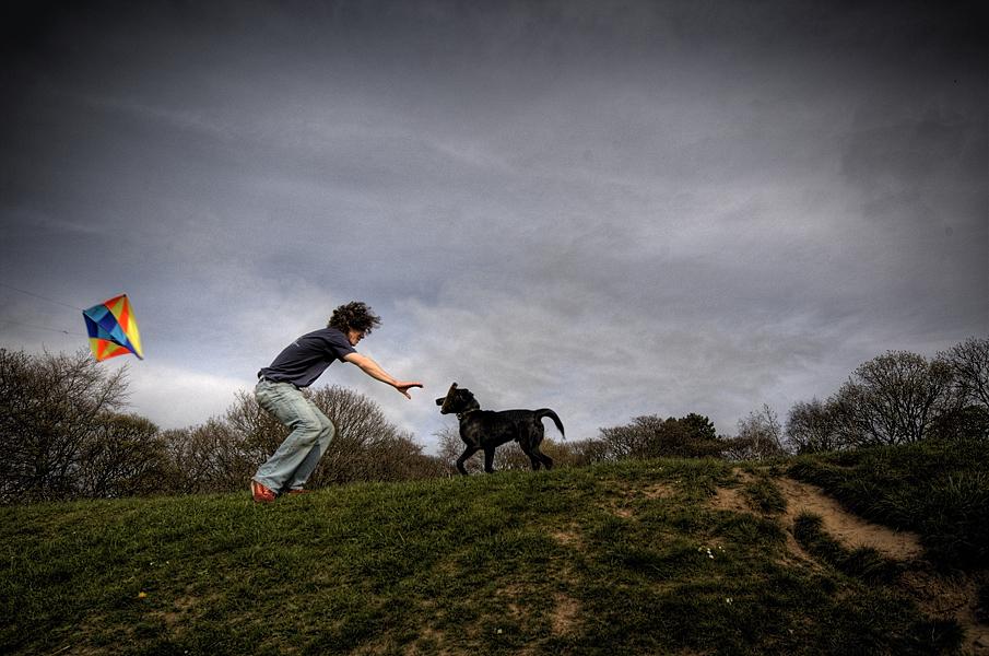 Boy Kite Dog Fine Art Photography English Photographer