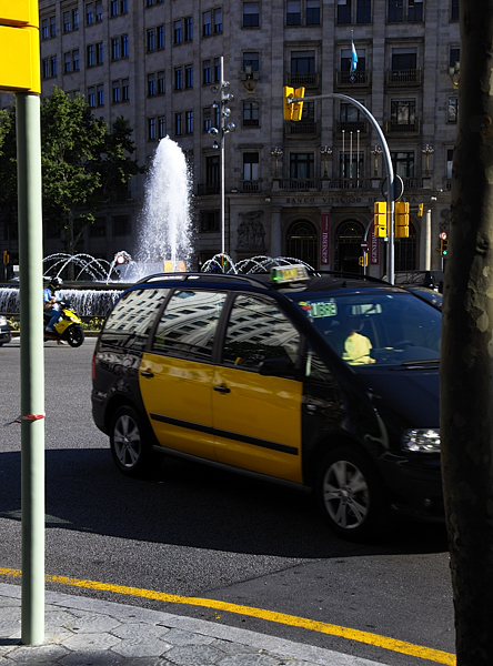 Taxis in Barcelona, Spain