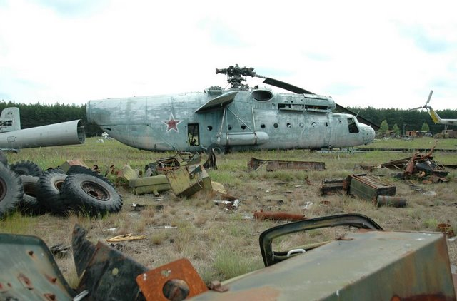 Abandoned Russian army scrap metal