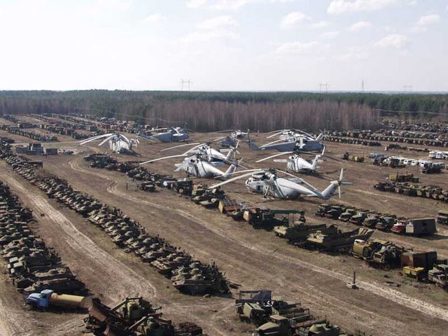 Abandoned Russian army scrap metal 2