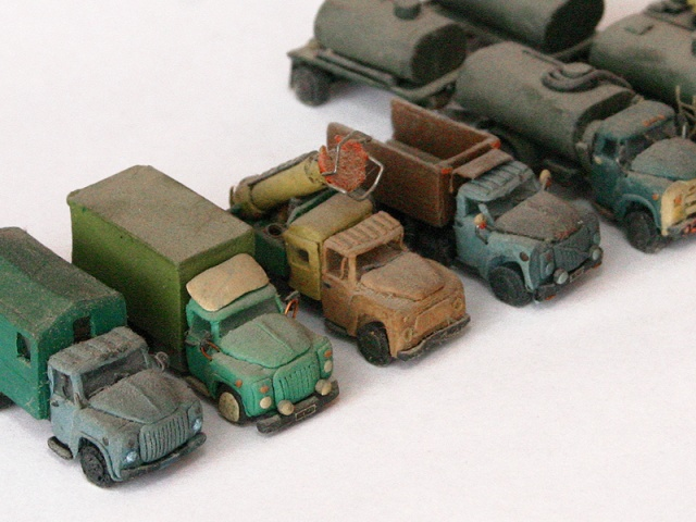 russian cars made of plasticine 11
