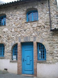 French Stone House Entrance