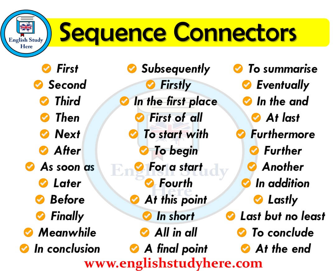 Sequence Connectors In English