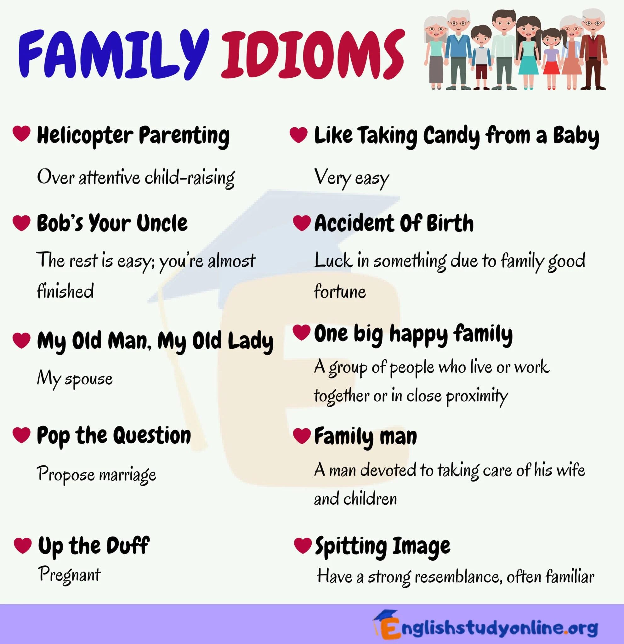 Family Idioms