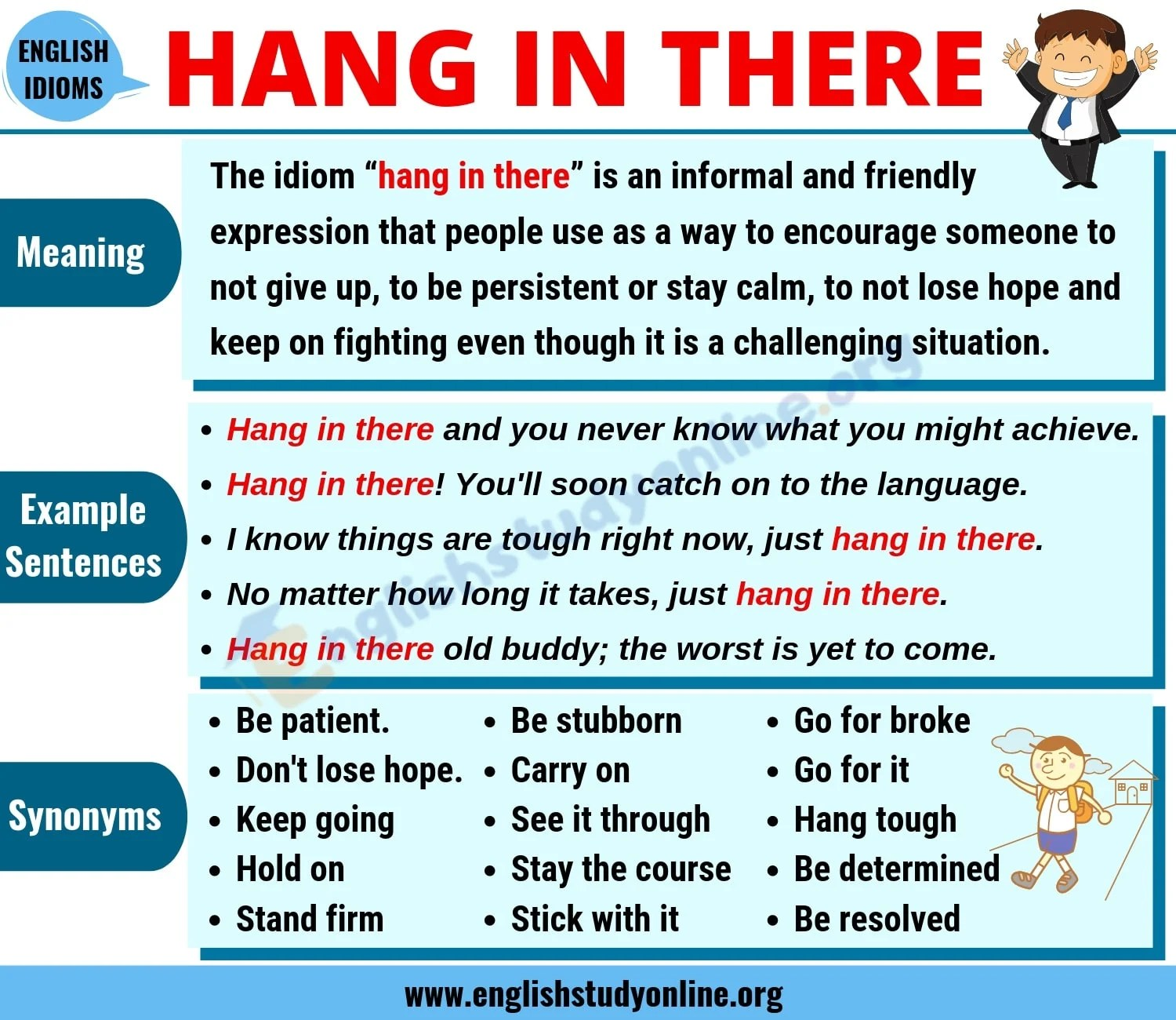 Hang In There Definition Useful Conversation Examples