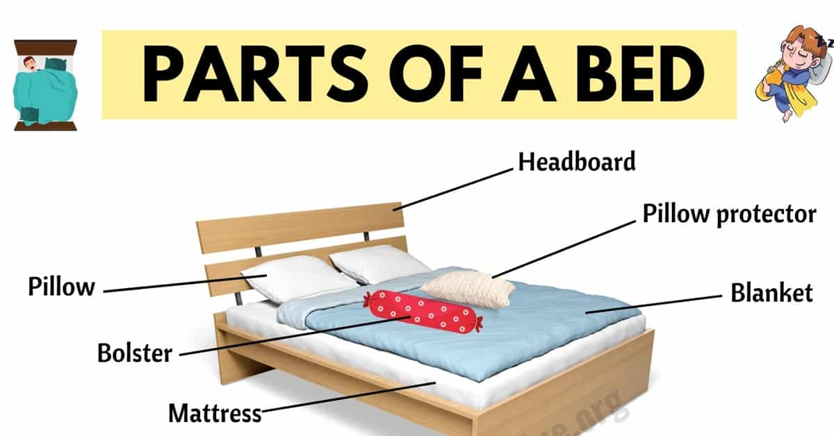 parts of a bed learn useful vocabulary
