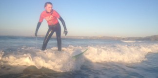 Winter Sun Surfing