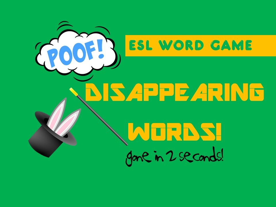 Disappearing Words Game