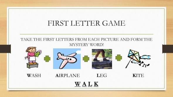 First Letters ESL Game