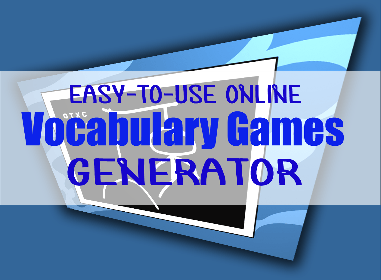 easy to use online vocabulary games generator english teaching