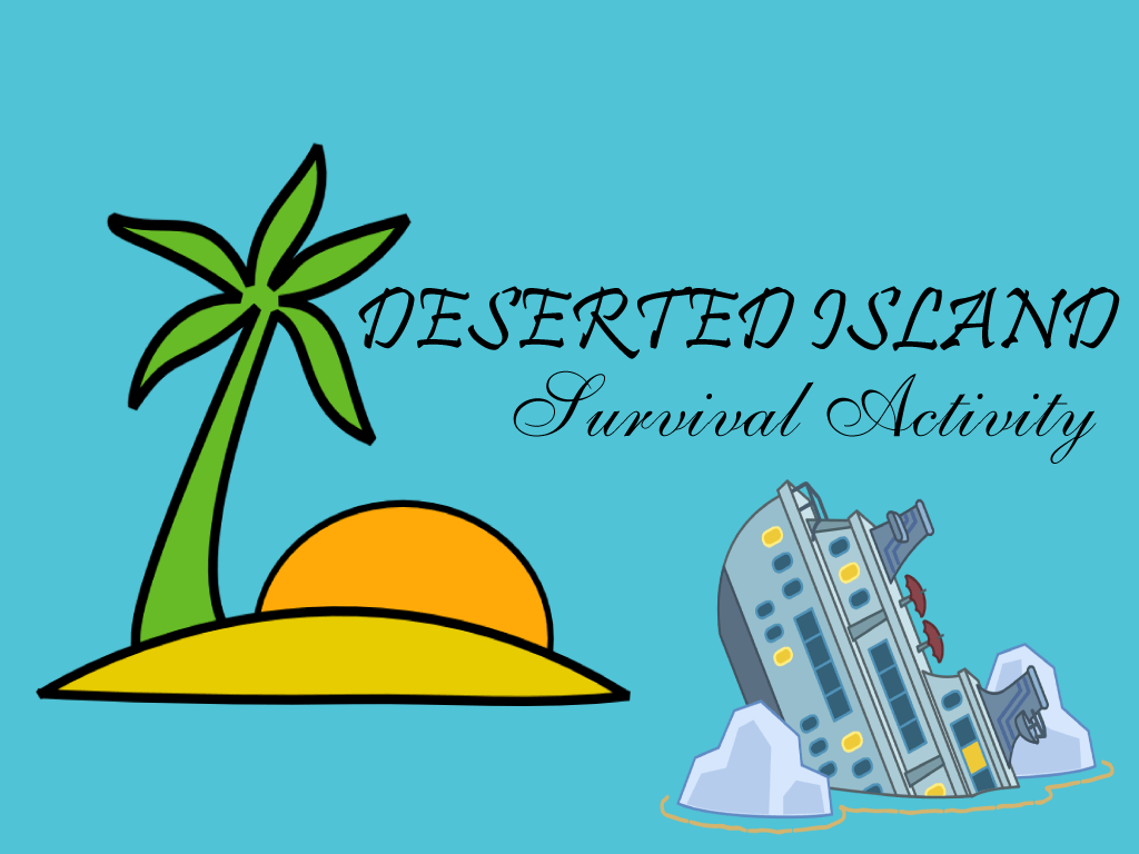 deserted island survival activity