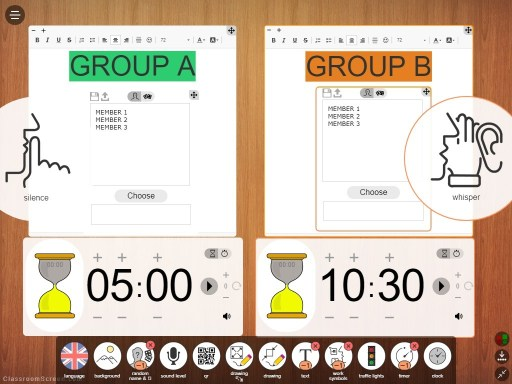 Classroom Screen duo widget function