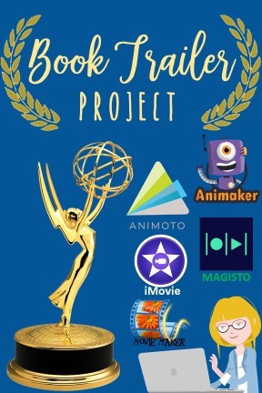 Book Trailer Project is a digital storytelling activity for middle school or high school students after they finish reading a book.  #BookTrailer #BookReport #BookAnalysis #BookProject