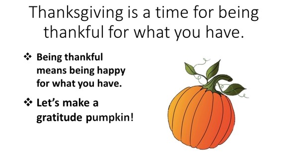 thankful pumpkin