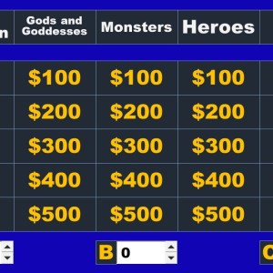 Greek Mythology Jeopardy Review