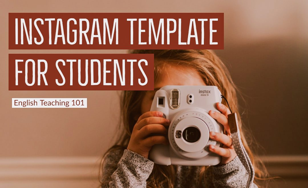 printable Instagram template for students