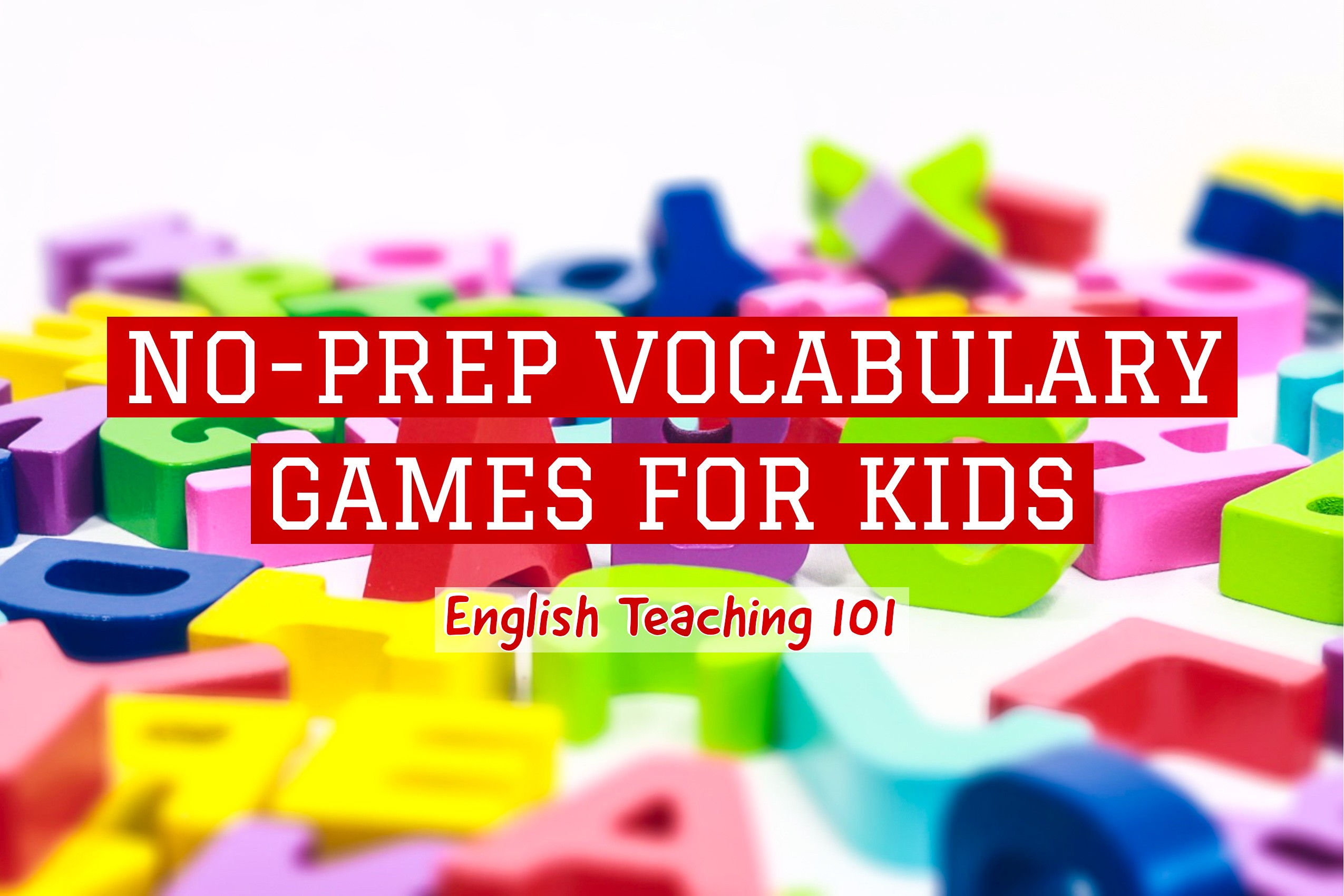 no-prep vocabulary games for kids