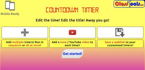 countdown timer classtools.net