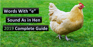 words with e sound as in hen
