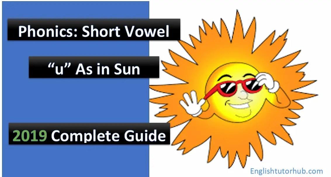 phonics short vowel u as in sun