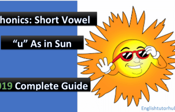 phonics short vowel u as in sun