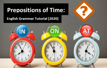 English grammar tutorial for beginners preposition of time in on at