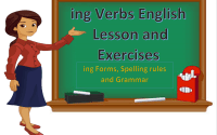 ING Verbs English Lesson, Form and Exercises