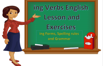 ing verbs in english lesson and exercises