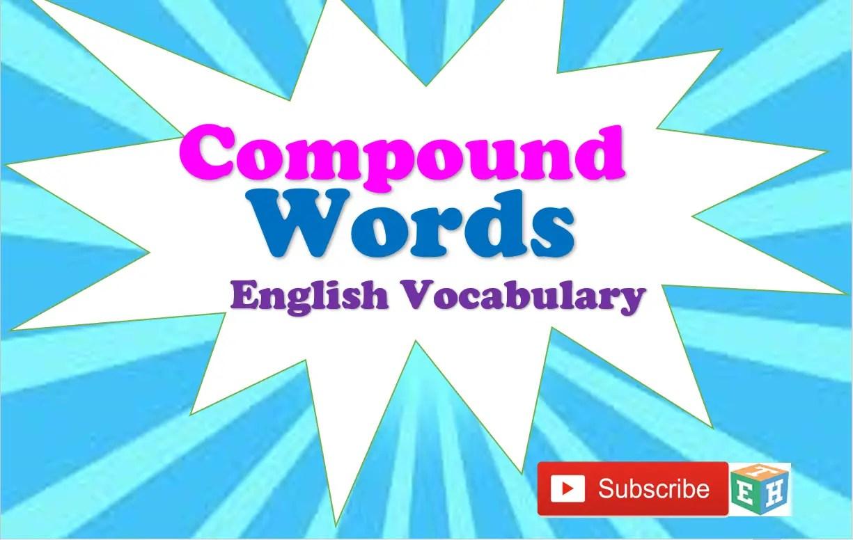 Compound Words English Vocabulary