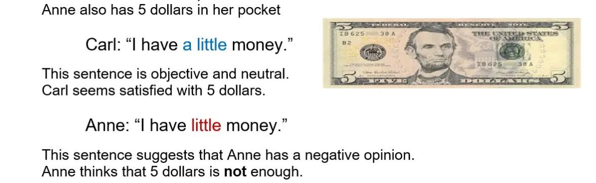 a little money