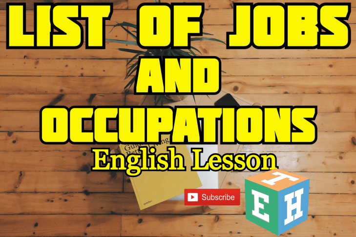 List Of Jobs And Occupations