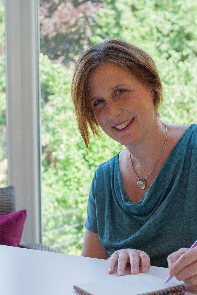 Jane at her desk