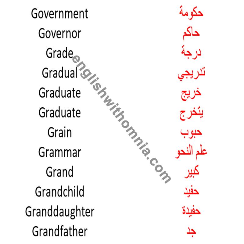 كلمات انجليزي