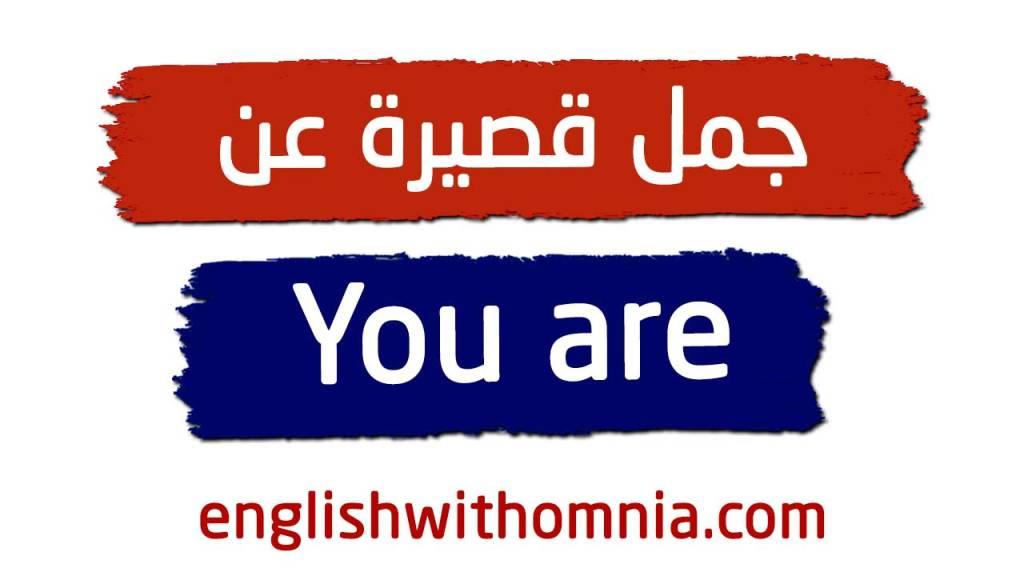 جمل عن you are