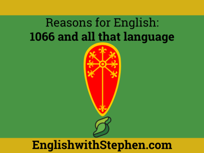What happened when a French-speaking king took over the English crown. By English with Stephen