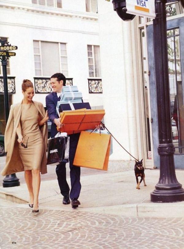 A shopping couple