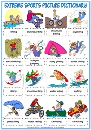 Extreme Sports ESL Printable Worksheets And Exercises