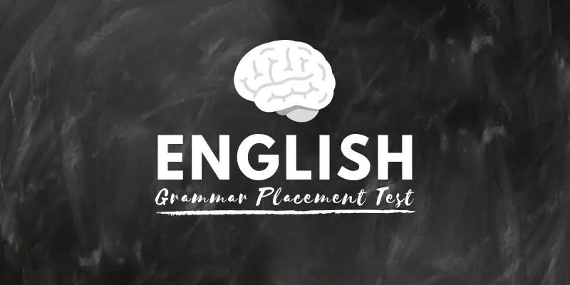 grammar placement test