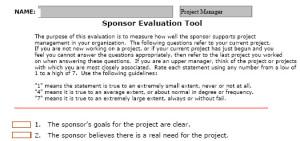 sponsor evaluation