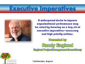 title slide for Executive Imperatives