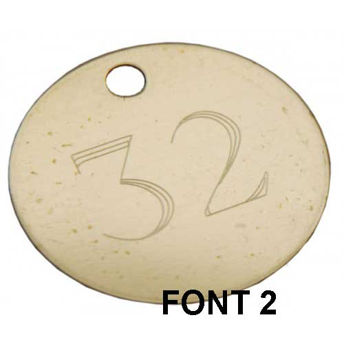 32mm Etched Engraved Brass Disc Tag