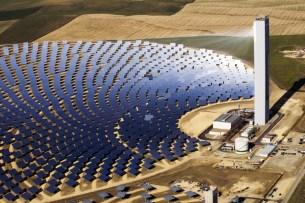 Concentrating Solar Power (CSP) array.