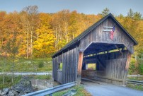 Many covered bridges use timber beams.
