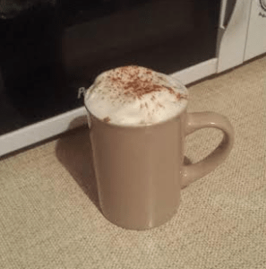 healthy chai latte