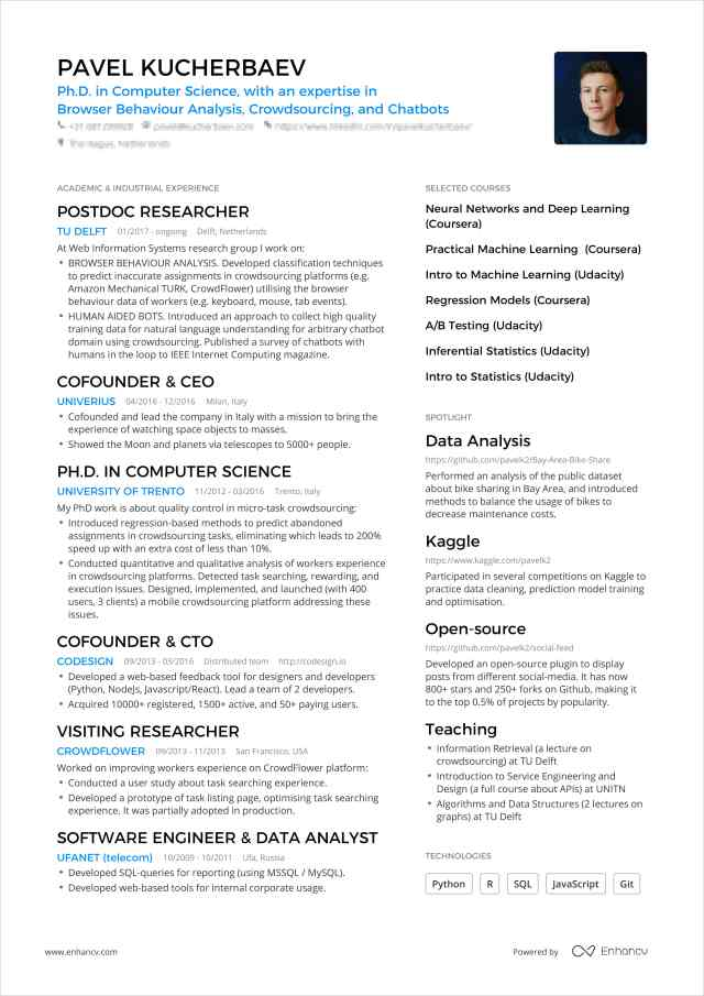 One Page Resume: Examples & Guide for 30