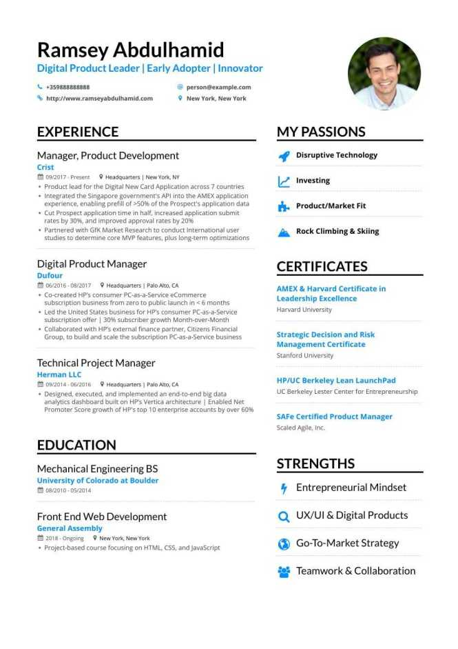 Product Manager Resume Examples