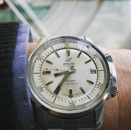Gorgeous white dial Sherpa Ultradive.