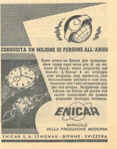 Small Italian print ad, variation