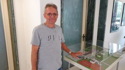 Herr Silvestri, Anlagewart of the building since 1981