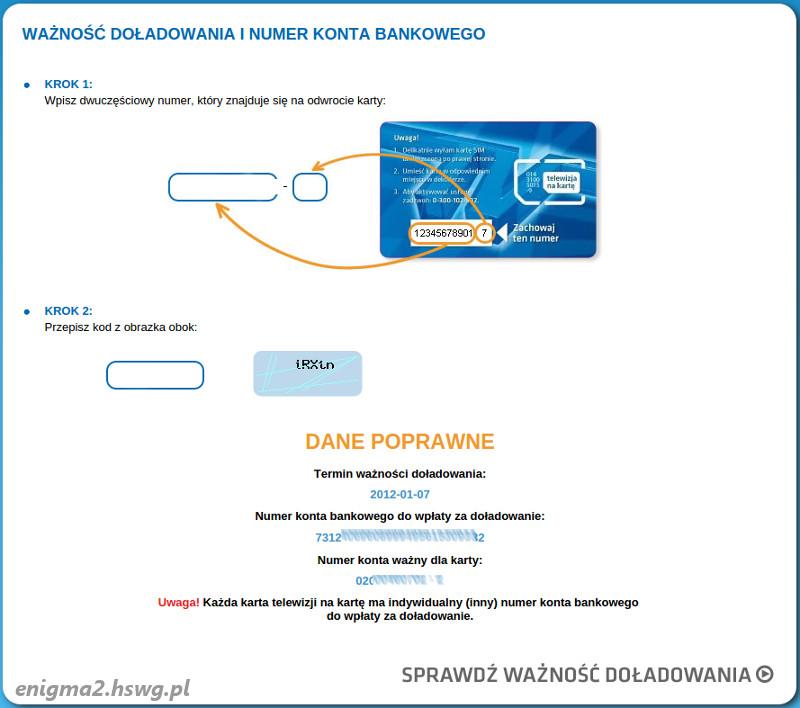 telewizja na karte doładowanie Konfiguracja OSCam do aktywacji karty TnK SD   Enigma2   tunery